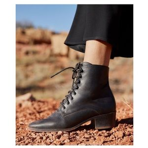Christy Dawn - The Dawn Boot in Noir Leather